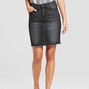 Universal Thread Black Denim Mini Skirt